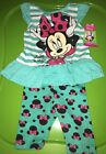 DISNEY Baby Girl MINNIE MOUSE 2 Piece Short Top Set Outfit Size 12m months NEW
