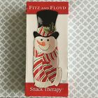 Christmas Fitz & Floyd Snack Therapy Snowman Platter Server - Retails for $26