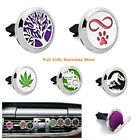 1pc Stainless Steel Car Diffuser Vent Clip Aroma Perfume Locket 10pcs Free pads