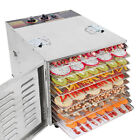1000W Commercial Electric  Stainless Food Dehydrator Jerky Fruit Dryer 10 Racks
