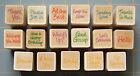 MINI GREETINGS WORDS  PHRASES RUBBER STAMPS YOU PICK LIL HERO ARTS DESIGNS