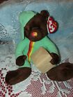 TY Beanie Baby - PACKER the Bear (UK Exclusive) (7 inch) - MWMTs Stuffed Animal