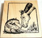 Inkadinkado Wood Mounted Rubber Stamp CLASSICS SPECIAL MOMENT Mare