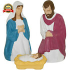 Light Up 3 Piece Nativity Figures Set Jesus Christmas Manger Outdoor Decorations