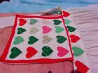 antique apron selling 4 fabric heart motif as is decorate baby kid doll cloths?