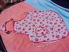 antique apron floral use as fabric? baby kid doll cloths? 2 small repairs needed