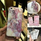 Granite Marble Pattern Soft TPU Phone Case Cover For Samsung Galaxy S6 S7 Edge