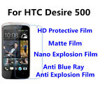 3pcs For HTC Desire 500 Good Touch MatteAnti Scratch High Clear Screen Film