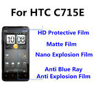 3pcs For HTC C715E Good Touch MatteAnti Scratch High Clear Screen Film