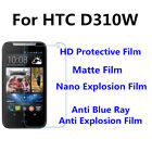 3pcs For HTC D310W Good Touch MatteAnti Scratch High Clear Screen Film