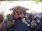 NATIVITY APPROX 30PC MUSICAL ITALY STABLE FIGURES ANIMALS ANGEL 1 1 4 5 CRECHE