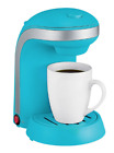 Coffee Maker with Mug, Kitchen Selectives Single Serve, Turquoise, Or Red
