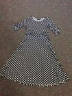 Blue And White Polka Dot Dress Size S