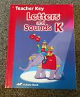 Abeka Letters And Sounds K5 Kindergarten Teacher Key Homeschool Curriculum