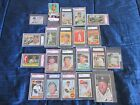 Rare set of 1951-1969 Mickey Mantle PSA SGC graded cards-1952 Topps rookie!