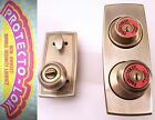 MID-CENTURY FRONT DOOR KNOB ENTRY SET KWIKSET UNUSED COMPLETE IN BOX LEFT HAND