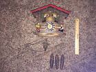 RARE! GERMANY BLACK FOREST DANCING MUSICAL CUCKOO CLOCK BLAUE DONAU WALZER-$$$!