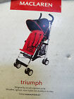 Maclaren Triumph Scarlet and Black Umbrella Single Seat Stroller