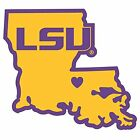 LSU Tigers Home State Decal Sticker Repositionable NEW USA SHIPPER