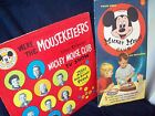 LOT OF 2 VINTAGE MICKEY MOUSE CLUB RECORDS ANNETTEDISNEYLAND+MATTEL