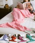 Super Soft Fluffy Hand Crocheted Mermaid Tail Blanket Sleeping Bag Gift Adult