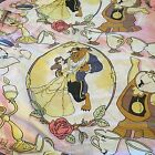 Vintage Disney Beauty And The Beast Twin Flat Sheet Dancing Belle Beast fabric