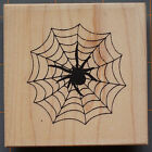 SPIDER in WEB RUBBER STAMP HALLOWEEN ETC CREEPY FUN by IDEA RUBBER STAMP