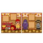 Printed Premade Scrapbooking 2 Page Layouts FAST FOOD FUN characters happy meal