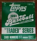 1991 Topps Traded Baseball Complete Boxed Set