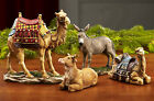 Christmas Stable Animals Ox Sheep Camels Collectible Nativity Scene Figurine Set