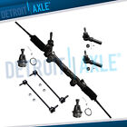 7pc Complete Power Steering Rack and Pinion Gear Assembly and Suspension Kit