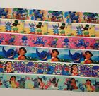 6 yards Mixed Lot Lilo  Stitch Inspired grosgrain Ribbon 7 8 and 1