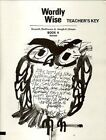 Wordly Wise Book 4 Teacher Key Grade 7 PAPERBACK