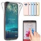 360 Full Cover Gel Shockproof Soft TPU Case Clear Protective For LG G6 G5 G4