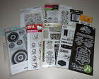Huge Clear Stamp Lot Tim Holtz Fiskars Kaisercraft PSA Essentials