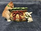 FITZ & FLOYD CLASSICS  WINTER HOLIDAY SANTA TIDBIT CANDY DISH