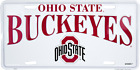 Ohio State Buckeyes White License Plate Sign Made in the USA