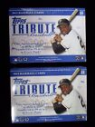 Two (2) 2012 Topps Tribute Baseball Factory Boxes 12 Hits dj collectibles