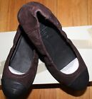 130 FITFLOP FPOP DARK BROWN BALLERINA SLIP ON SHOES US 8 UK 6 EU39