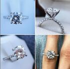 Certified 250Ct Cushion Cut Diamond Halo Bridal Engagement 14k White Gold Ring