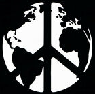 WORLD PEACE DECAL Sticker laptop phone game multiple sizes