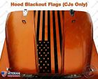 American Flag USA Hood Blackout Vinyl Decal fits Jeep CJ5 CJ7 CJ8 Scrambler
