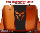 Skull Evil Hood Blackout Vinyl Decal fits Jeep CJ5 CJ7 CJ8 Scrambler Renegade