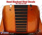 Strobe Hood Blackout Vinyl Decal fit Jeep CJ5 CJ7 CJ8 Scrambler Renegade