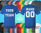 Personalized Custom Tee Shirt CREATE YOUR TEAM TEE SHIRT NAME NUMBER FRONT BACK