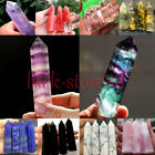 Natural Fluorite Amethyst Point Pink Rose Crystal Quartz Healing Hexagonal Wand