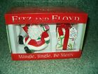 Fitz & Floyd Mingle Jingle Be Merry Salt & Pepper Set Christmas Santa & Gift