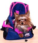 Pet Carrier Denim Front Pouch Yorkie Chihuahua PINK Straps SMALL