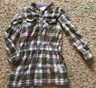 The Childrens Place Size 6 Plaid Button Up Tunic Style Top