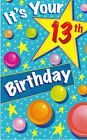 Birthday Card with Envelope 13th